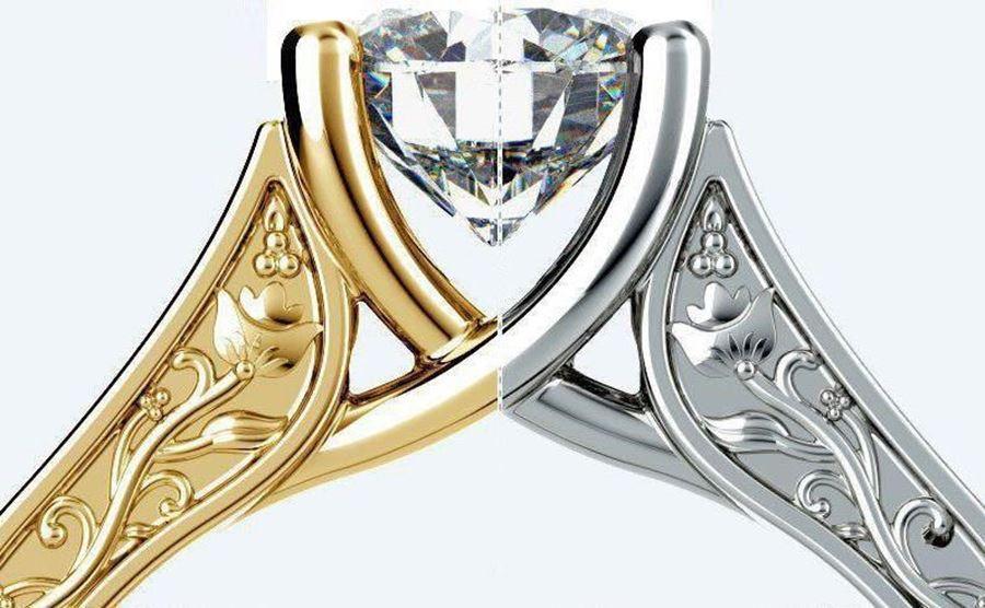 فرق طلای سفید و زرد چیست؟ | طلای زرد بهتر است یا سفید. فروشگاه کافه طلا و  جواهر